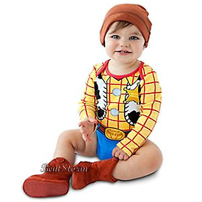 DISNEY STORE TOY STORY Woody or Tiger Cuddly Bodysuit Set for Baby MULTI SIZES