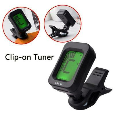 Lcd Clip On Chromatic Acoustic Electric Guitar Bass Tuner Banjo Ukulele D6X7