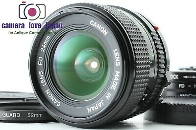 {MINT w/ Adapter} CANON New FD 24mm f2.8 NFD Wide Angle MF Lens from JAPAN #050e