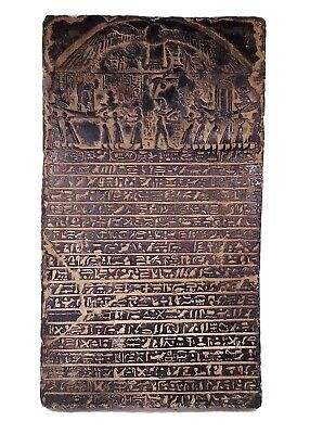 Rare Egyptian Antique Stela stelae Book the Dead underworld Holy Sacred Heaven