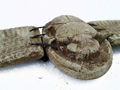 Rare Egyptian Antiques Winged Scarab Beetle Sculpture Stone Statue Khepri