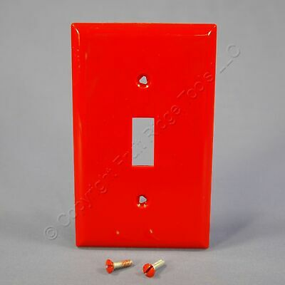 Eagle Red 1-Gang Unbreakable Toggle Switch Cover Wall Plate Switchplate 5134RD