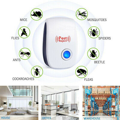 1~10 Electronic Ultrasonic Pest Reject Repeller Mosquito Cockroach Mouse Killer