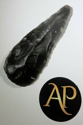 Rare English Neolithic Flint Pear Head Complete – Northern Cambridgeshire