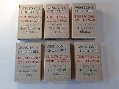 Winston Churchill - The Second World War Volumes 1-6 First Editions