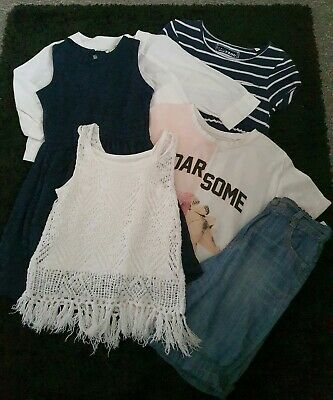 Girls Next Bluezoo River Island Spring Bundle Dresses Tops Shorts  Age 5-6 Years