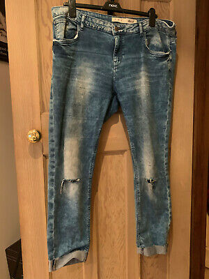 Denim & Co Stonewash Stretch High Rise Skinny Jeans Size 16 Stonewash
