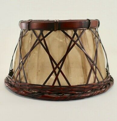 Rare Mission-Arts & Crafts Stickley Japanese Wicker Lamp Shade/ Buffet-Desk