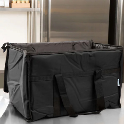 2 PACK Insulated Black Catering Delivery Food Full Pan Carrier Hot Cold Bag NEW