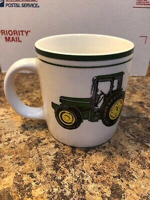 John Deere Nothing Runs Like A Deer Coffee Mug Cup by Gibson White With Tractors