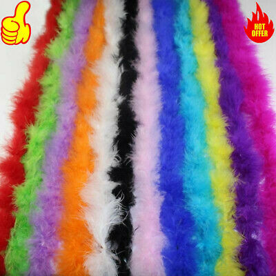 2 Meter Turkey Feather Strip Fluffy Boa Wedding Women Party Decoration New