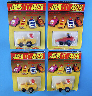 McDonald's 1985 Vintage 4 Fast Macs Canada Release Happy Meal In Package