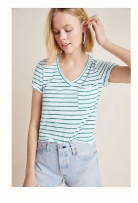 """565A//563A WOMEN ANTHROPOLOGIE T.LA /""""BABY CAKES/"""" FLOWERS V-NECK T-SHIRT"""
