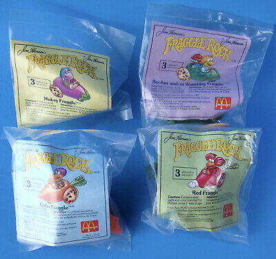 McDonald's Canada 1988 Fraggle Rock Set of 4 Happy Meal Toys English French MIP!