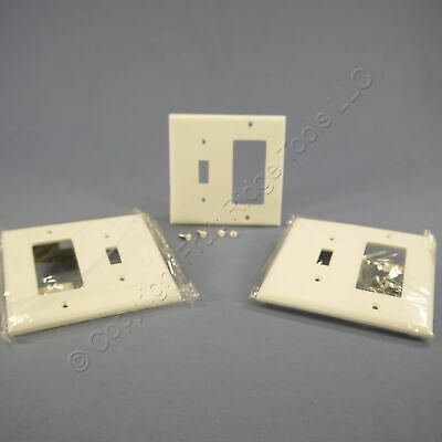 3 Eagle White Decorator GFCI Switch Cover Receptacle Thermoset Wallplate 2153W