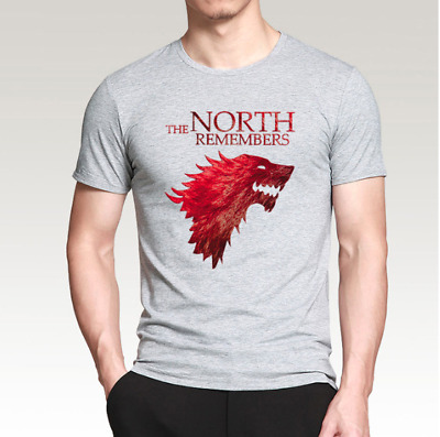The North Remembers T-Shirt Game of Thrones Arya Stark Cotton Summer Fitness Top
