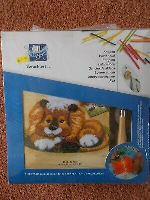 "Latch Hook Kit "" Animal Shape 28"" x 20"" New by Vervaco"
