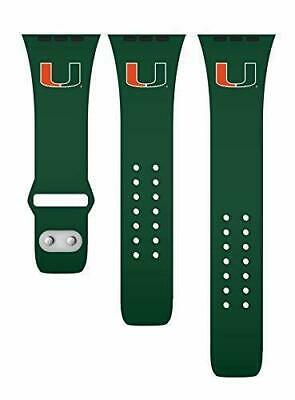 NEW Affinity NCAA Miami Hurricanes 42/44Mm Apple Watch Silicone Band - Green