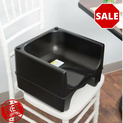 BLACK Dual Height Plastic NSF Stackable Restaurant Booster Seat Chair Kids Resto