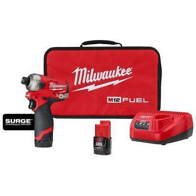 M12 FUEL SURGE 12-Volt Lithium-Ion Brushless Cordless 1/4 in. Hex Impact Driver