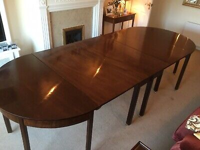 Antique Georgian Mahogany Extendable D End Dining Table Fantastic Cond Late 1700