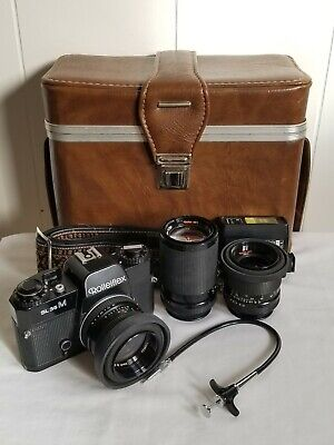 Rolleiflex SL35M Camera, 3 Rollei-HFT Lenses, 7 Filters, Flash, Strap and Case