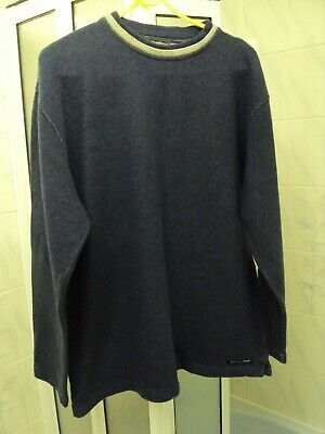 Men's Paul Smith Jeans Lambswool Crew Neck  Jumper Size L Blue Fade