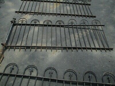 Vintage Architectural Salvage Cast Iron Fence 6 Sections Over 6 FT Each Pc.