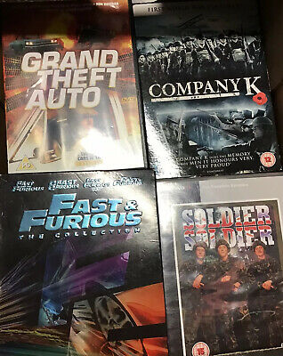 Dvds 100 Mixed Job Lot Clearance Bankrupt Stock Business Closed Liquidation