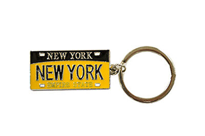 Lot Of 12 Pcs Nyc Key Chain New York City Plate Empire State Key Ring 69559