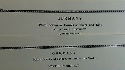 German Thurn & Taxis stamp collection on Scott Specialty w/ est. 34