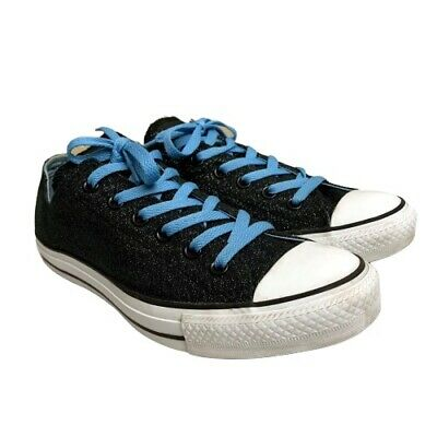 Converse All Star Chuck Taylor Low Sneakers Size 10 Womens Black Sparkle