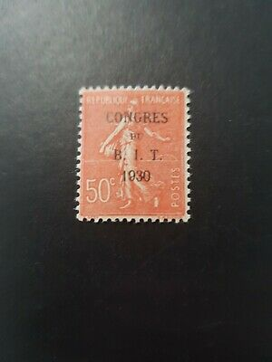 France Timbre N°264 Congres Du B.i.t 1930 Neuf ** Luxe Mnh Cote 7.00€