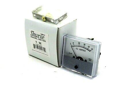 New Shurite 5806Z Panel Meter 0-50Ac Amps