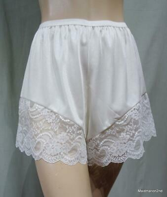 VINTAGE SILKY SHEER CREAM NYLON FRENCH KNICKERS PANTIES Med WX