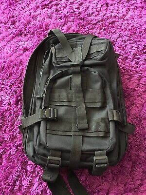 Black Rucksack Multi Pocket