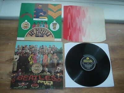 The Beatles Sgt Peppers Lonely Hearts Club 1ST PRESS! INSERTS STEREO 1967 UK LP