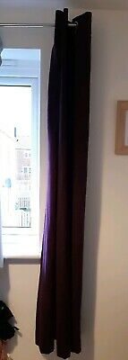"Pair of purple faux suede lined eyelet Curtains 66"" X 72"" Inches"