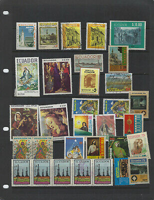 Ecuador-Selection -Mixed Periods-Mint -Used--#A12