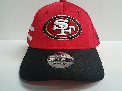 YOUTH San Francisco 49ers Cap New Era 39Thirty Stretch 2018 Home Sideline Hat