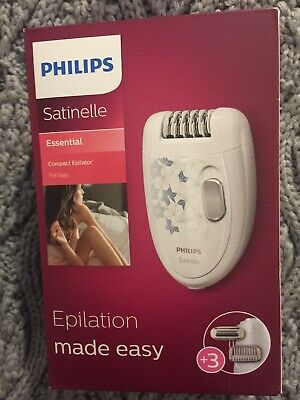 Phillips Satinelle Essential Epilator With Box New Used Once
