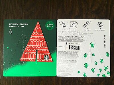 """Canada Series Starbucks """"LITTLE TREE WAVES 2019"""" Gift Card - Special '*' Marker"""
