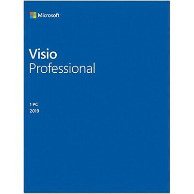 Microsoft D87-07432 Visio 2019 Professional for Windows 10 - Box Pack- Medialess