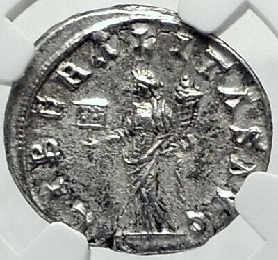 SEVERUS ALEXANDER Authentic Ancient Antioch Roman Coin LIBERALITAS NGC i82225