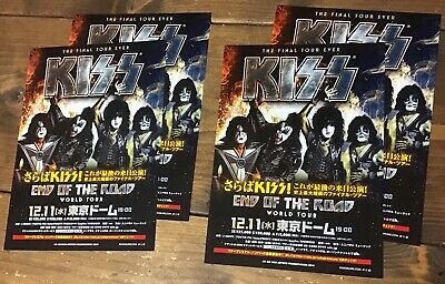 2019 Kiss End Of The Road JAPAN tour concert flyer / mini poster / gene simmons