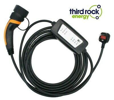 EV Electric Vehicle Plug In Charger UK Type 2 Variable 6-16A 250V, 5 Metre