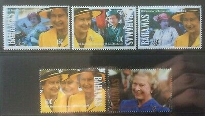 BAHAMAS 1992 40th ANNIV ACCESSION MH SET OF 5