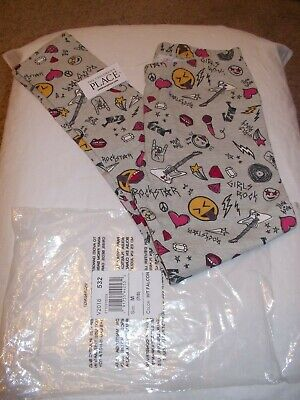 Nwt Girl's - Size M (7-8) - Children's Place Leggings Pants - Rockstar Guitar