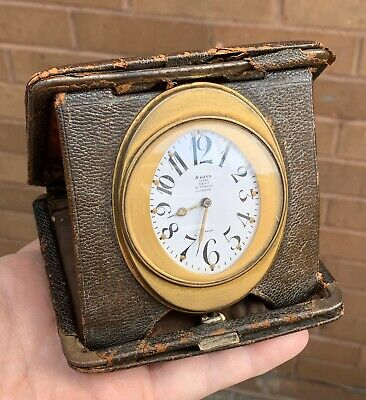 A Early Art Deco 8 Day Working Travel Clock, Examined By Dent 61 Strand London..