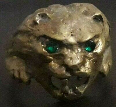 Ancient Ring Viking Artifact Bronze Rare Museum Quality Lion Head Unique Antique